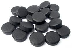 кучка активированного уголя
