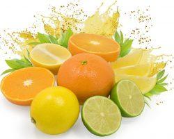 лимоны, апельсины, лайм