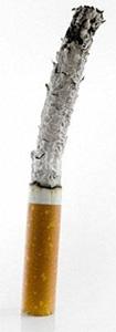 Истлевшая в пепел сигарета