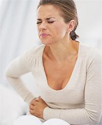 Изжога иногда сопровождается болью в правом боку